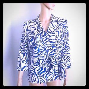 NWT Alex evenings Women's blazer Multicolor XL